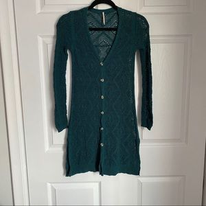 FREE PEOPLE OPEN KNIT DUSTER CARDIGAN